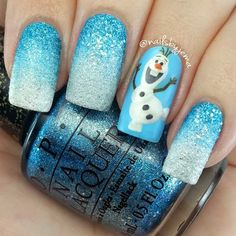 Frozen Nails | Glitter Nail Designs That Would Still Rock In 2017