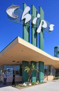 Chip's Diner in Hawthorne - Los Angeles Googie Building