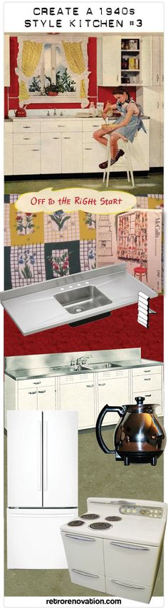 create a 1940s style kitchen - pam's design tips - formula #1