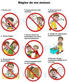 Exemple tableau regle de la maison pour enfant a imprimer - La maison de la table ...