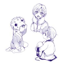 Yona of the Dawn (暁のヨナ) - little Kija, Shin-ah, & Je-ha