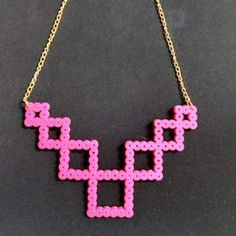 Necklace hama beads by maryfer.orea
