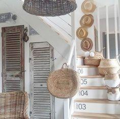 House By The Sea, Farmhouse Kitchen Decor, Modern Farmhouse, Decor Styles, Sweet Home, Stairs, Interior Design, Outdoor Decor, Home Decor