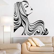 Salon Wall Art beautiful flower hair girl 2 vinyl wall art salon / home / office