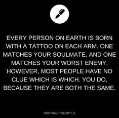 Okay but wouldnt that just make you your own soulmate? and your own enemy?