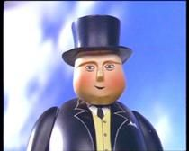 """This is Sir Topham Hatt, from """"Thomas the Tank Engine"""".  Are there similarities between this character and I. K. Brunel?"""