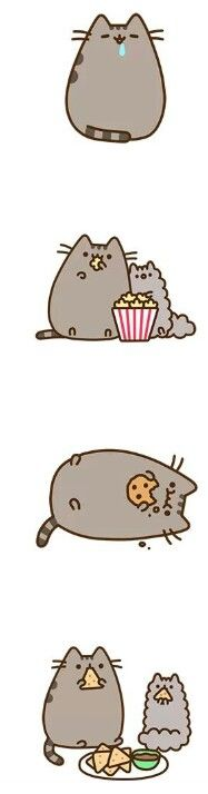 Pusheen and Stormy are me and Nathan!