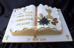 Open Bible 1st Holy Communion cake - Google Search