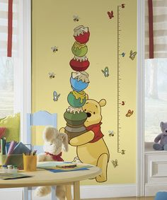 Take a look at this Pooh Growth Chart Wall Decal by RoomMates on #zulily today!