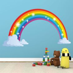 Rainbow Full Colour Wall Sticker Decal Kids Boys Girls Poster Vinyl in Home, Furniture & DIY, Home Decor, Wall Decals & Stickers | eBay 90cm x 53 cm Approx. AUD$38 plus AUD$10 postage