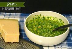 Ponto de Rebuçado Receitas: Pesto de Espinafre e Nozes