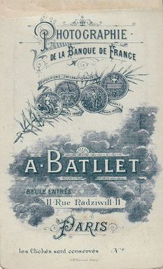 A. BATLLET, Photographie de la Banque de France - Paris