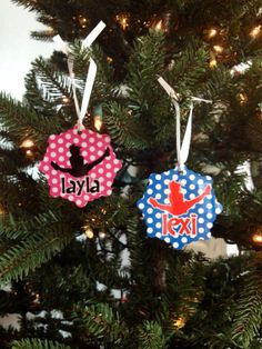 Toe Touch Cheer Christmas Ornament by Justcheerbows on Etsy, $14.95