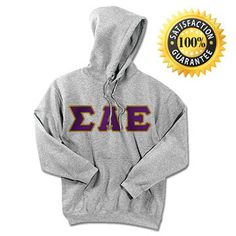 Sigma Alpha Epsilon Fraternity Standard Lettered Hoody | Something Greek | #SigmaAlphaEpsilon #fraternity #standard #lettered #hoody #trads #somethinggreek #products #greekmerchandise #greeklife