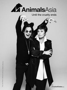 """Ozzy and Sharon Osbourne support Animals Asia new """"No Voice, No Choice"""" campaign to end performance animal cruelty. Learn more about Animals Asia on TrustedChoice.com: https://www.trustedchoice.com/choice-blog/variety/animals-asia/"""