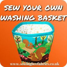 Sew your own fabric washing basket with our step by step free sewing tutorial