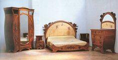 Carlo Zen, Camera da letto in cirmolo, decorazioni floreali a giorno,1898-1900