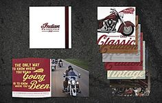 """From Commarts.com: 04.16.13 """"For the 2013 Indian Motorcycle Catalog, Colle+McVoy wanted to create something that would highlight the bikes, but also have more lasting value. Instead of making a simple page-by-page catalog, the Minneapolis-based agency manifested a unique piece with multiple, independent sections that each fold out into a collectible poster."""" Lots of vintage appeal. VERY cool!"""