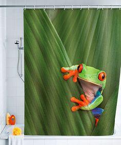 Frog Shower Curtain #zulilyfinds