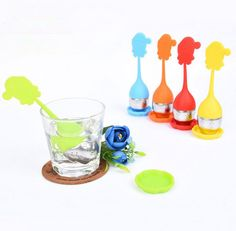 New Silicone Stainless Steel Tea Strainer Infuser Spice Filter Tea tool