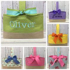Personalized ballerina theme burp cloth set custom gift for baby polka dot easter basket boys personalized easter basket negle Choice Image
