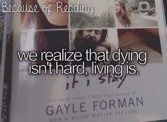 we realize that dying isn't hard, living is.