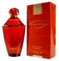 Samsara By Guerlain For Women. Eau De Parfum Spray 3.4 Oz. by Guerlain. $73.95. Packaging for this product may vary from that shown in the image above. This item is not for sale in Catalina Island. SAMSARA by Guerlain Eau De Parfum Spray 3.4 oz for Women Created by the design house of Guerlain in 1989, Samsara is classified as a refined, oriental, woody fragrance. This feminine scent possesses a blend of amber, rose, iris, violet, vanilla and sandalwood.