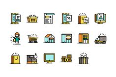 Business & Shopping Icons on Behance