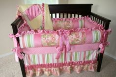 nursery inspiration: custom crib bedding girl pink