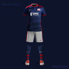 Nike MLS Concept Kits by Nerea Palacios | New England Revolution