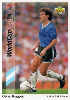 Oscar Ruggeri of Argentina. 1994 World Cup Finals card. Soccer Cards, Football Cards, Baseball Cards, America Album, Association Football, World Cup Final, Trading Card Database, Upper Deck, Oscars