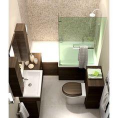 Small bathroom layout with l shaped bath