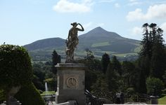 View of the Sugarloaf Mountain and the surrounding countryside from Powerscourt Gardens in Wicklow www.powerscourt.ie