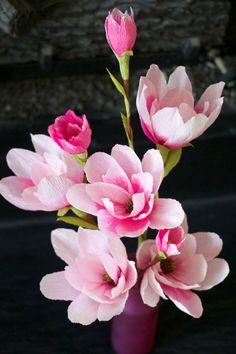 Paper Magnolia handmade by adornflowers on Etsy