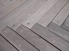 Hard wood floor planks make up the jetty at the Statue of Liberty. Beautiful, just on their own.