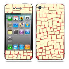 Quad noted Red iPhone skin by TAJTr