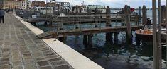 The vaporetto docks near Russell's hotel, on the Riva degli Schiavoni.