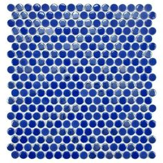 Merola Tile Cosmo Penny Round Blueberry 11-1/4 in. x 12 in. x 4 mm Porcelain Mosaic Tile-FSHCPRBB at The Home Depot
