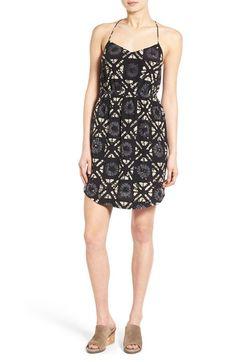 MADEWELL 'Starview' Batik Grid Silk Cami Minidress. #madewell #cloth #