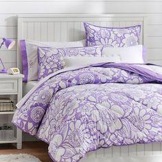 Blooming Garden Superpouf + Sham, Purple