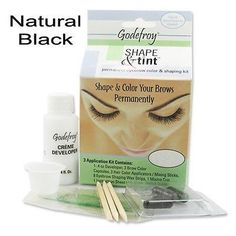 Godefroy Shape & Tint Permanent Eyebrow color & shaping kit (Natural Black)