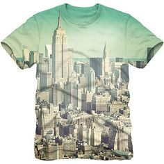 City Skyline Sublimation Men's Graphic Tee