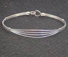 Feminine 4-Strand Sterling Silver Wire-Wrapped Bracelet   wiregems - Jewelry on ArtFire