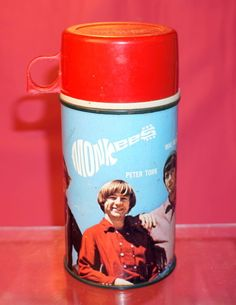 Vintage Hey Hey Monkees Metal Thermos for lunchbox