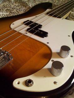 Here is my Fender Precision Bass Sunburst.