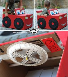 how to make a motor car with cardboard