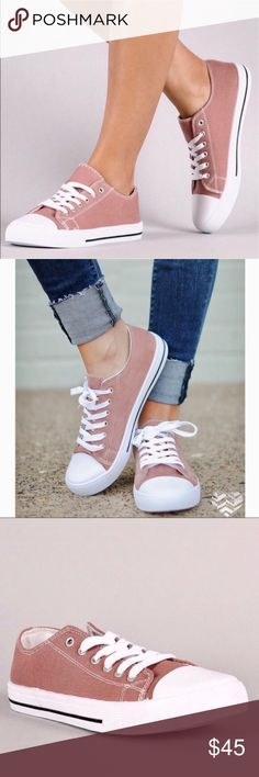COMING SOON!! Lace Up Canvas Sneakers Lace Up Canvas Sneakers in Bubble gum Pink, available in size 6. Shoes Sneakers