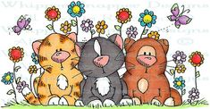 Whipper Snapper Designs is an expansive online store selling a large variety of unique rubber stamp designs. Tole Painting, Fabric Painting, Cat Character, Cute Clipart, Digi Stamps, Stuffed Animal Patterns, Cute Illustration, Animal Paintings, Rock Art