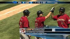 MLB (5/17/2009): Iván Rodríguez's (Houston Astros) 5th Home Run (2-Run HR) of 2009 Season (300th MLB Career Home Run) @ Wrigley Field, Chicago Cubs. (Video)