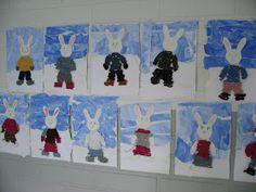 Teimme viimeisen talvisen työn virkkaamalla pupulle vaatteet. Harjoittelimme ketjuvirkkausta koukulla. Knitting, Crochet, Kunst, Hand Crafts, Tricot, Breien, Stricken, Ganchillo, Weaving